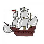 كيفية رسم سفينة