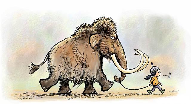 كيفية رسم حيوان الماموث