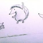 كيفية رسم قنفذ