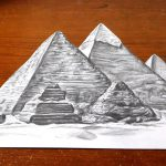 درس رسم عن الفراعنة