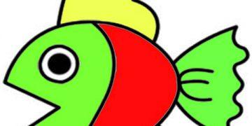فيكتور الغطاء النباتي توقع رسم سمكة للاطفال Alterazioni Org