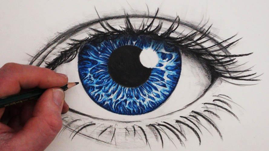 رسمة عين تعلم رسم العين بسهولة وخطوة بخطوة من خلال الصور المرفقة