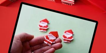 طريقة صنع بابا نويل من الورق